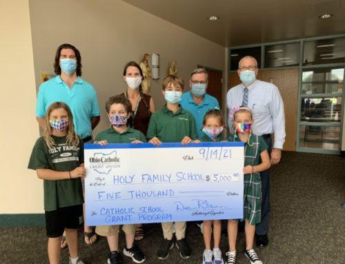 Holy Family Catholic School Was Awarded a $5000 Grant